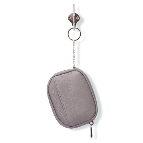 Portefeuille zippé, gris, femmes