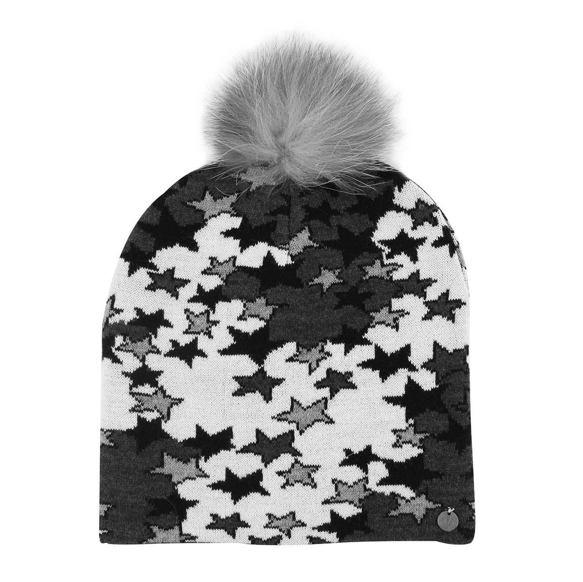 Women's Star Camo Stripe Hat - Black