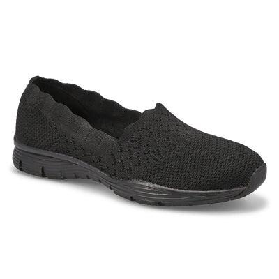 Lds Seager Stat Slip On Shoe - Blk/Blk