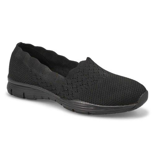 Lds Seager Stat blk/blk slip on shoe