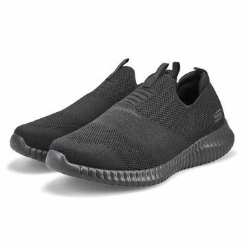 Men's ELITE FLEX WASIK black slip on shoes - Wide