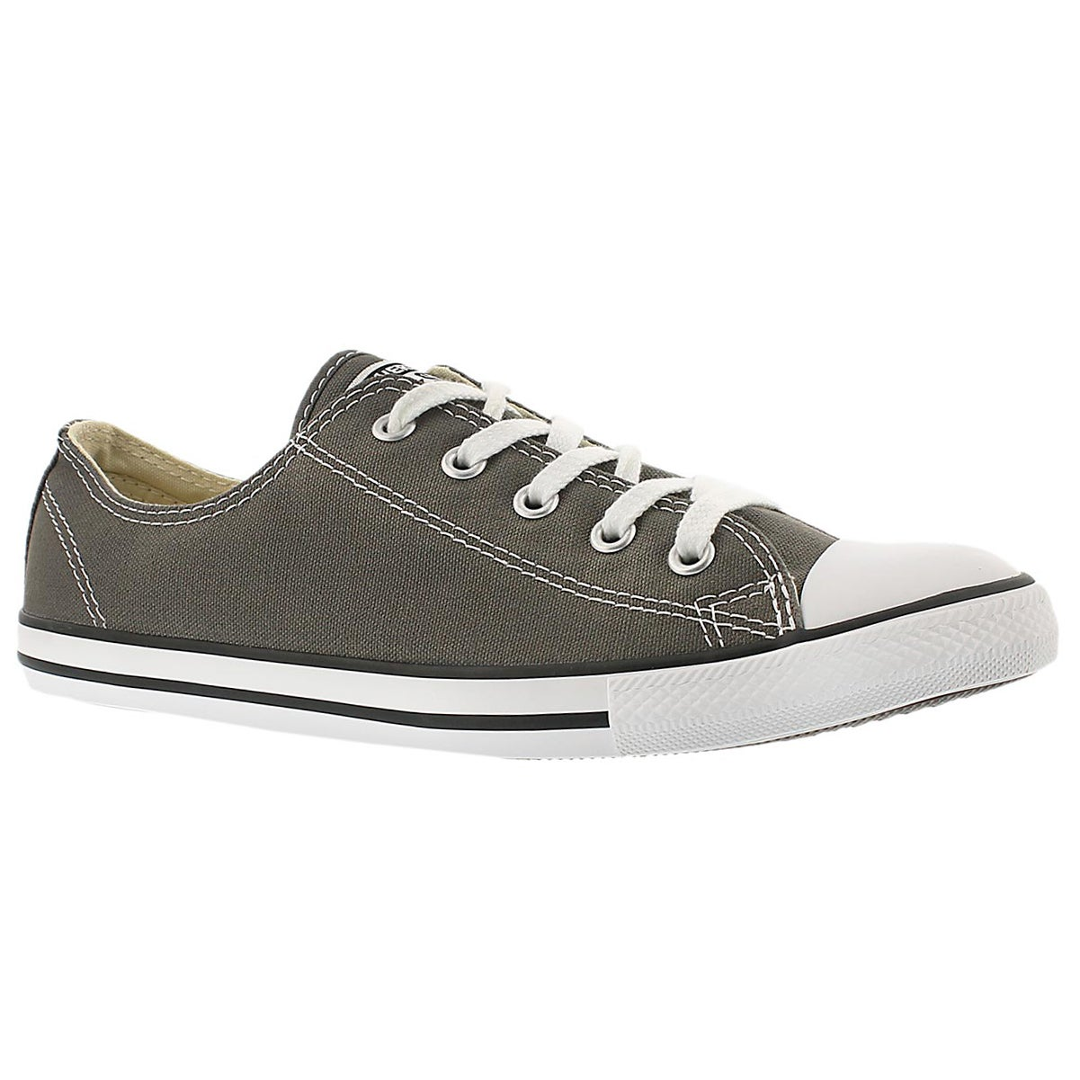 Lds CTAS Dainty Canvas Ox charcoal snkr