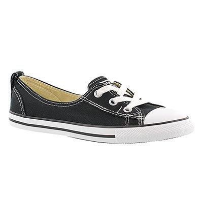 Converse Women's CT ALL STAR BALLET LACE black slip-ons