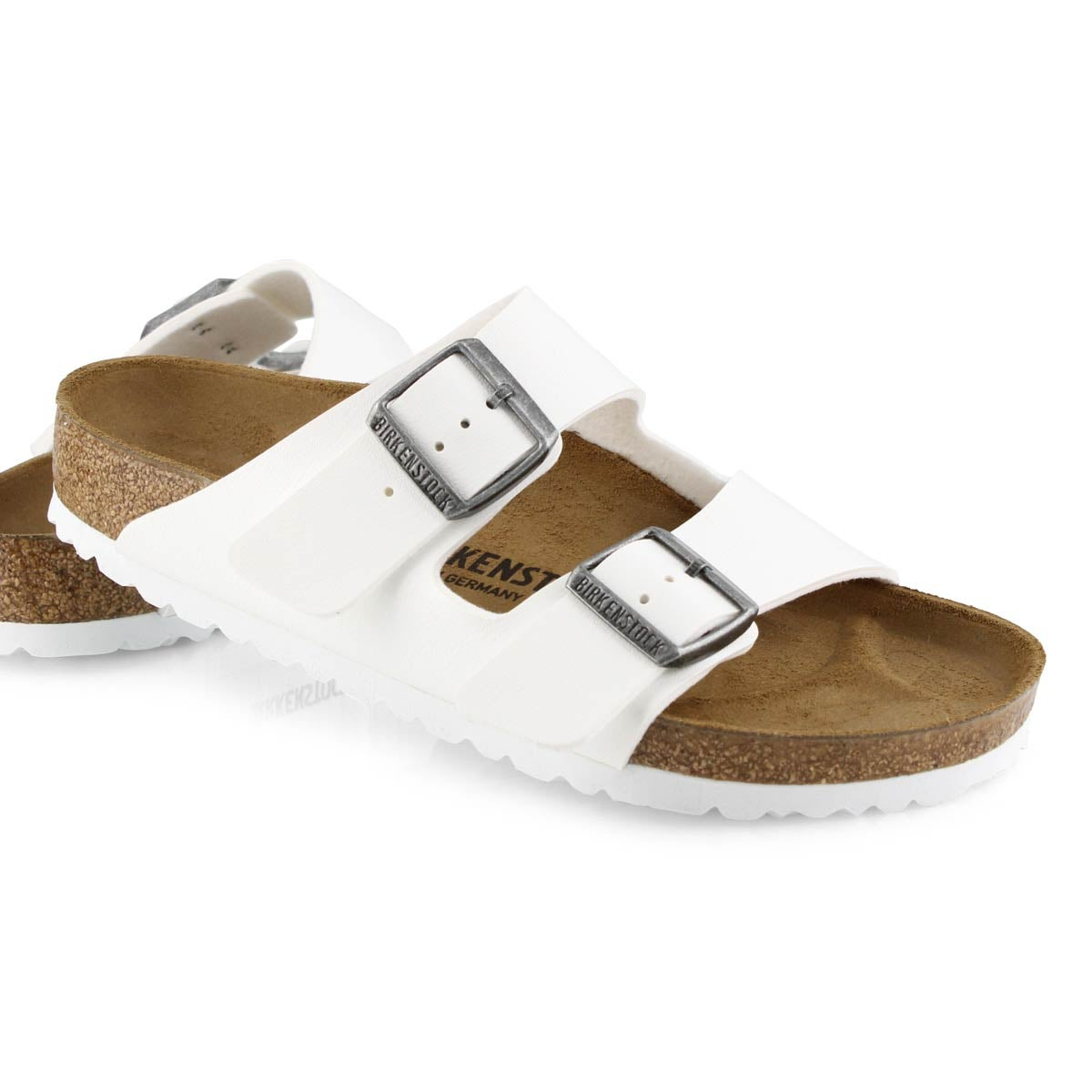 Sandales 2 brides Arizona, blanc, fem