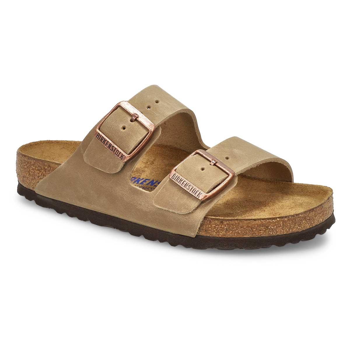 Sandales 2brides ARIZONA SF, tabac, femmes