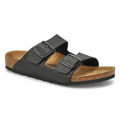 Kids' ARIZONA black 2 strap cork sandals - Narrow