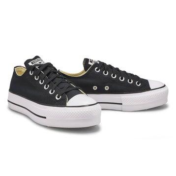 Women's All Star Lift Low Sneaker - Black/White
