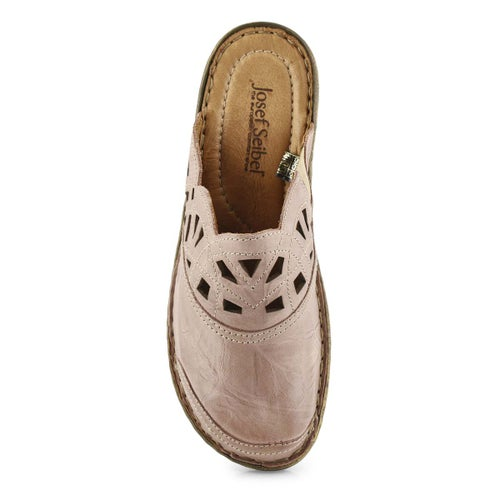 Lds Catalonia 41 rose low wedge clog