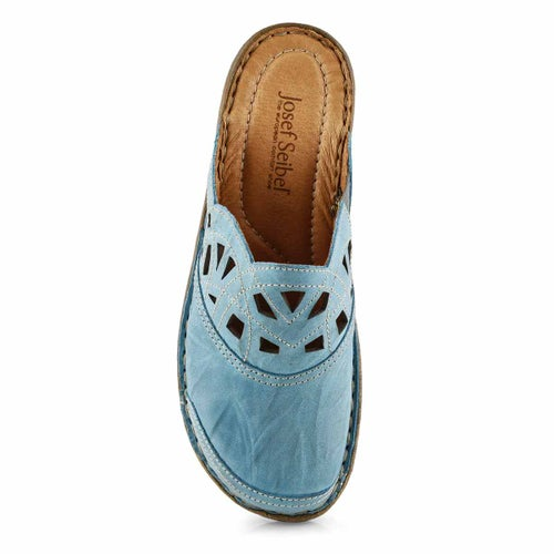 Lds Catalonia 41 azure low wedge clog