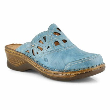 Women's CATALONIA 41 azure low wedge clogs