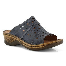 Lds Catalonia 43 blue slide sandal