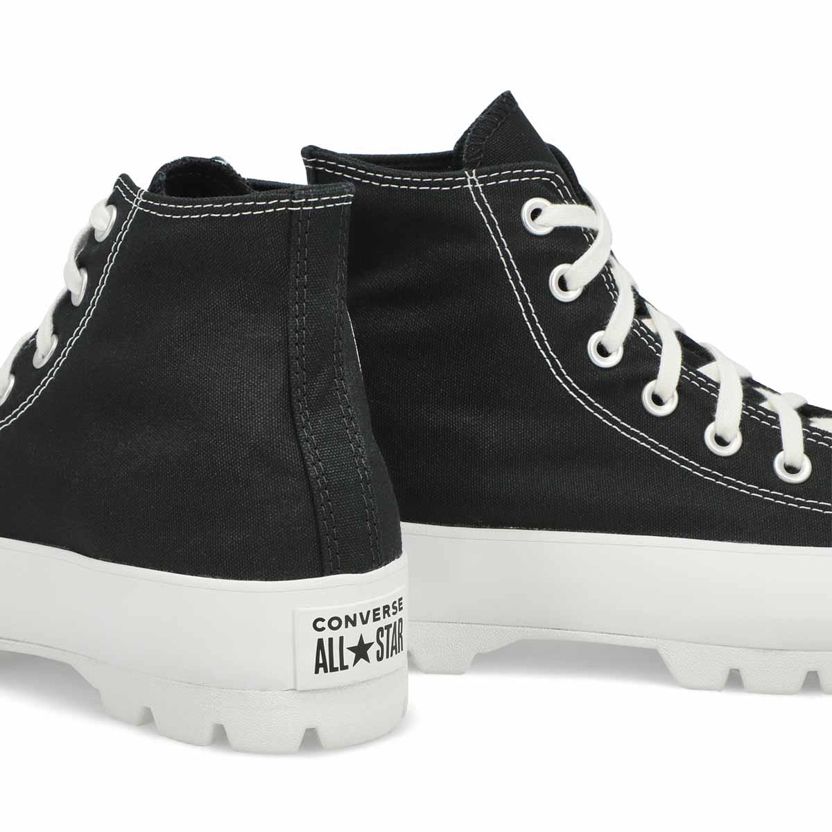 Women's All Star Lugged Hi Sneaker - Black/White