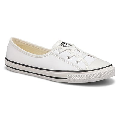 Lds CTAS Ballet Lace white slip on snkr