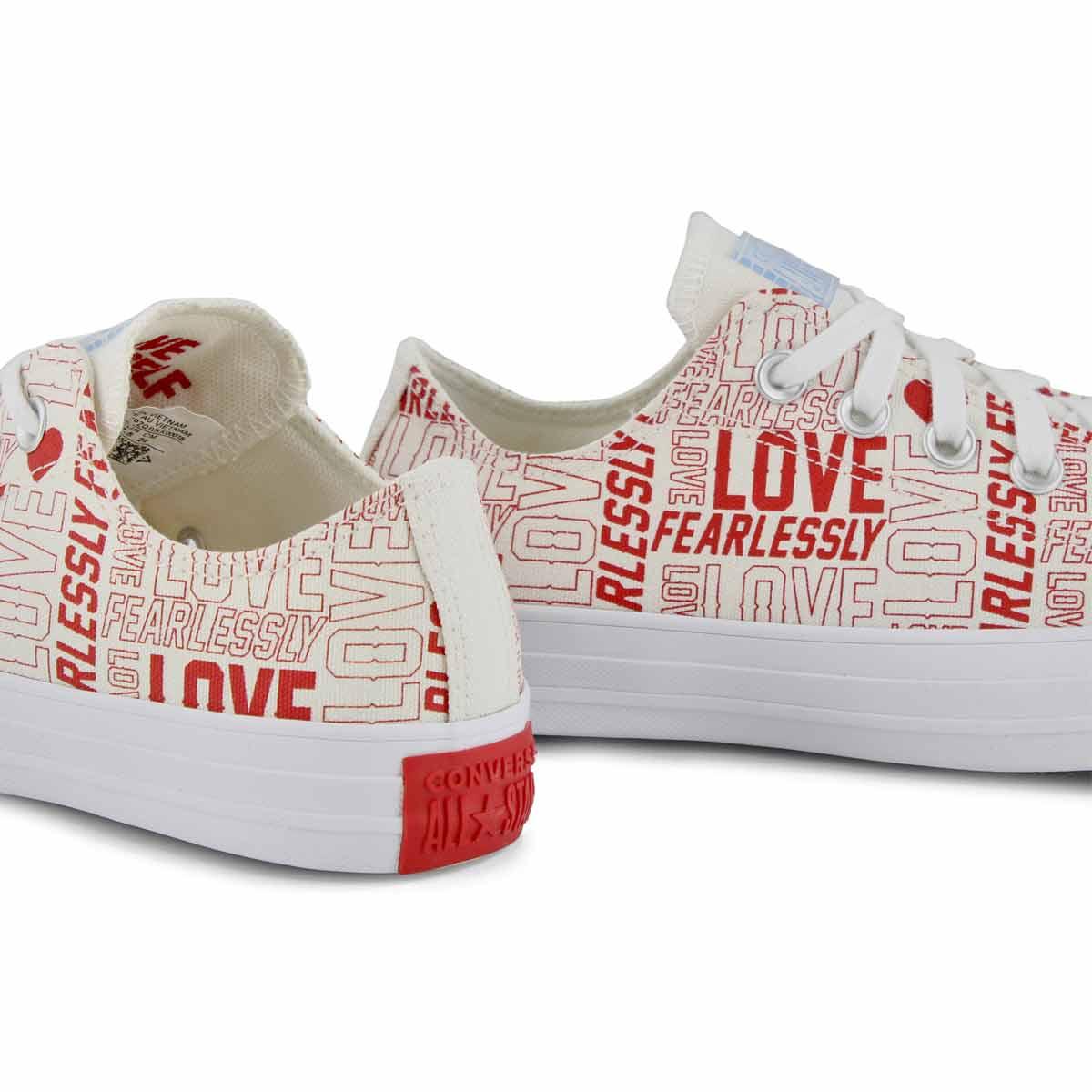 Lds CTAS Love Fearlessly egret/red snkr