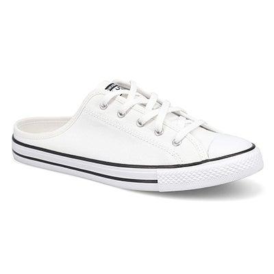 Lds CTAS Dainty Mule Slip-On Snkr-White