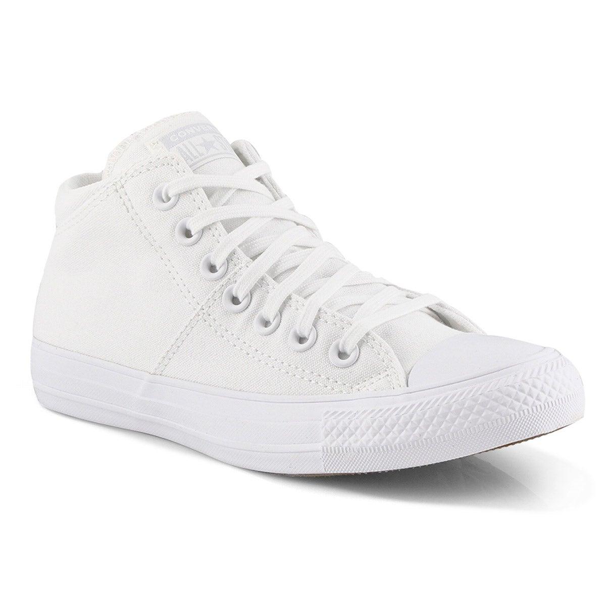 Lds CTAS Madison Mid mono wht sneaker