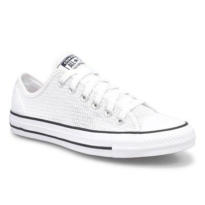 Lds CTAS Crochet Play Ox Sneaker-White