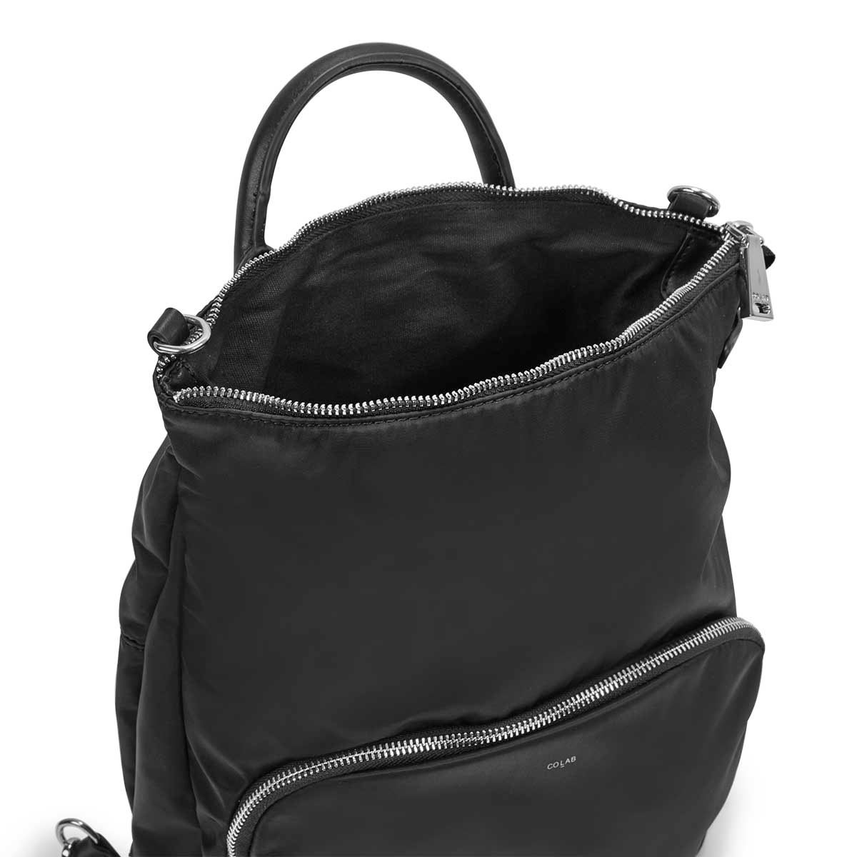 Lds Nellie blk convertible backpack