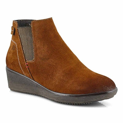 Lds Wilma 01 camel chelsea wedge boot