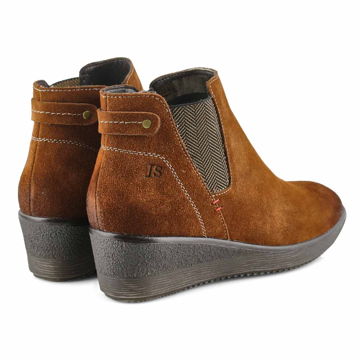 Women's Wolma 01 Chelsea Wedge Boot - Camel