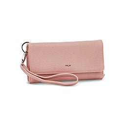 Co-Lab Women's BETH pink tri-fold wristlet