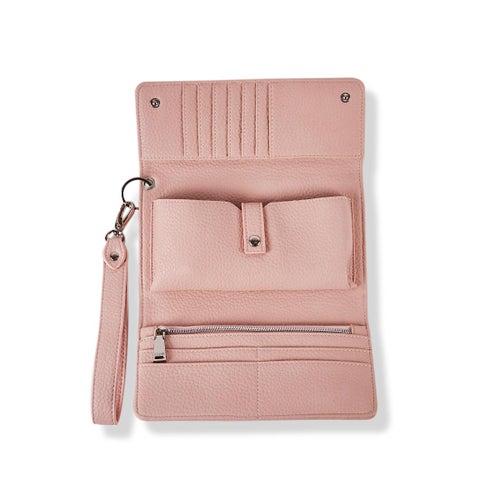 Lds Beth pink detachable strap wristlet
