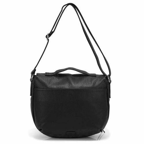 Lds black crossbody messenger bag
