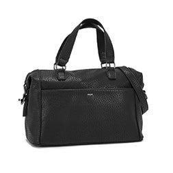 Lds black bowler shoulder bag