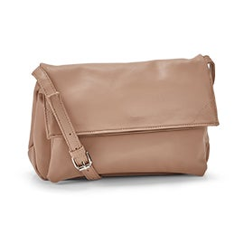 Co-Lab Women's HARLOW foldover beige crossbody bag