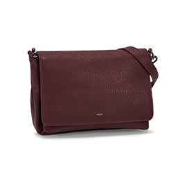 Co-Lab Women's 6110 wine messenger crossbody bag