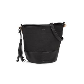 Co-Lab Women's 6138 black small bucket crossbody bag