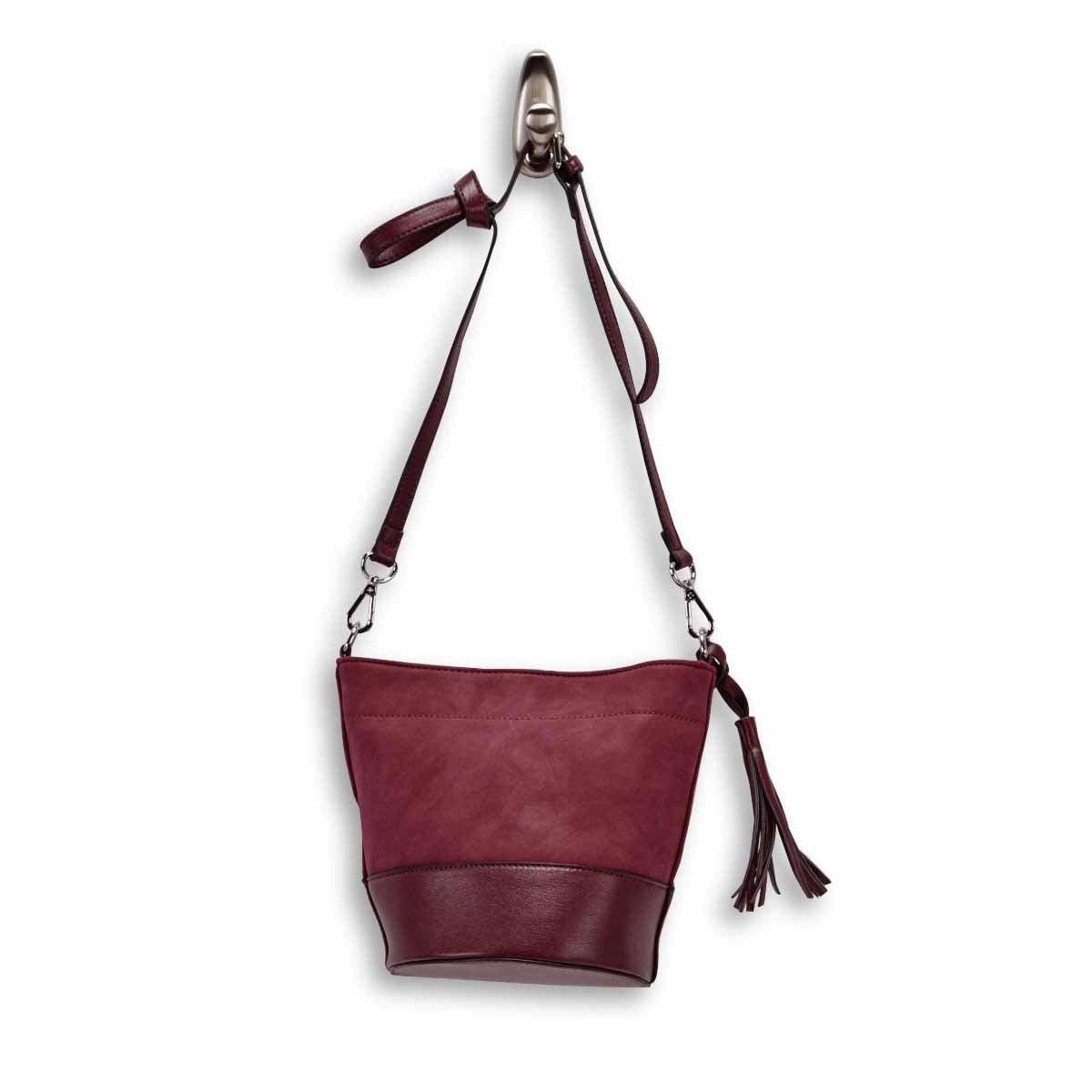 Women's 6138 black small bucket crossbody bag