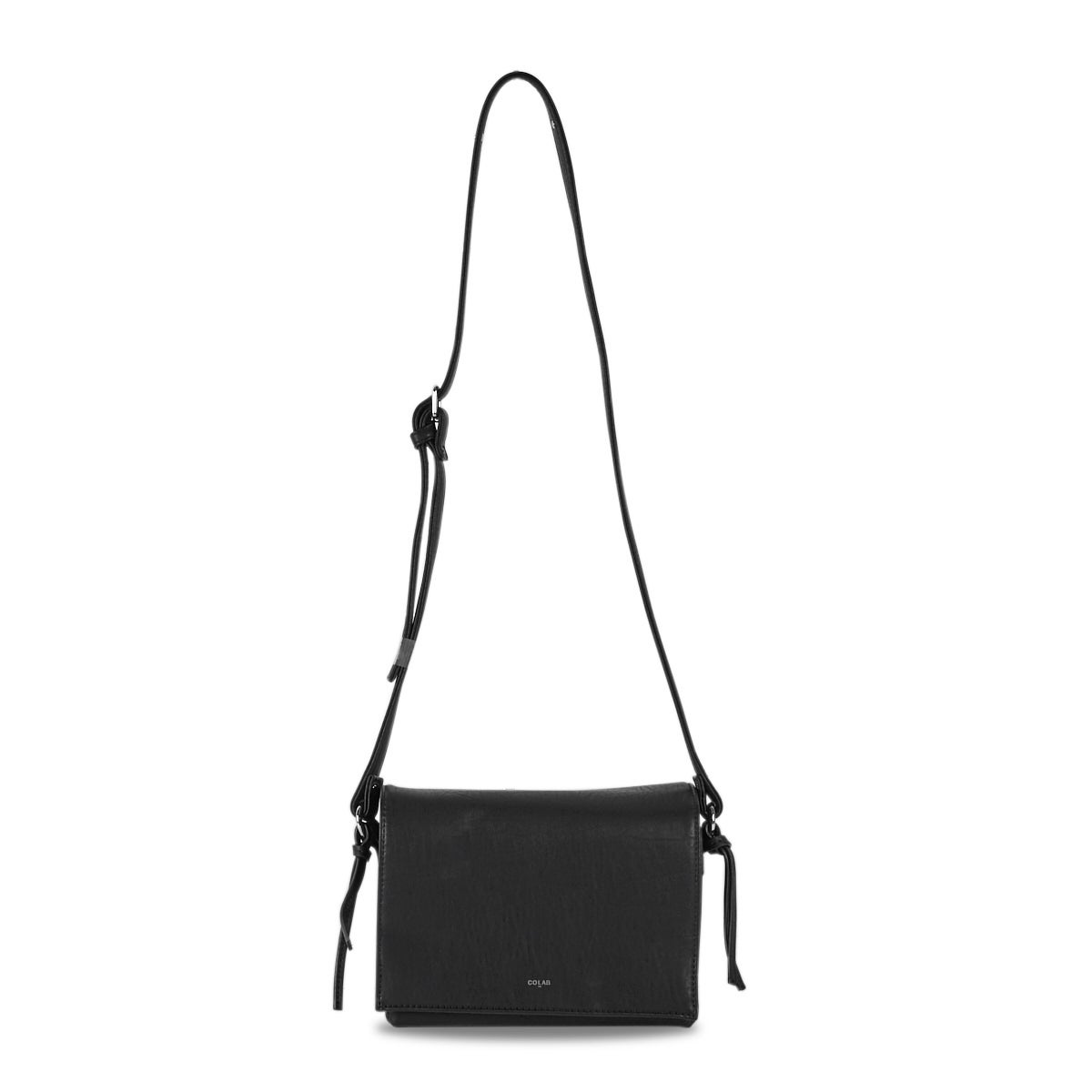 Women's 6144 black fold over cross body bag