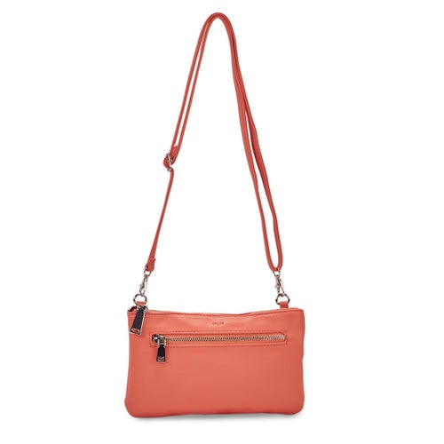 Lds Rock and Chain coral cross body bag