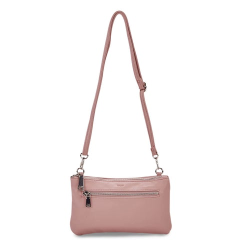 Lds Rock and Chain pink cross body bag