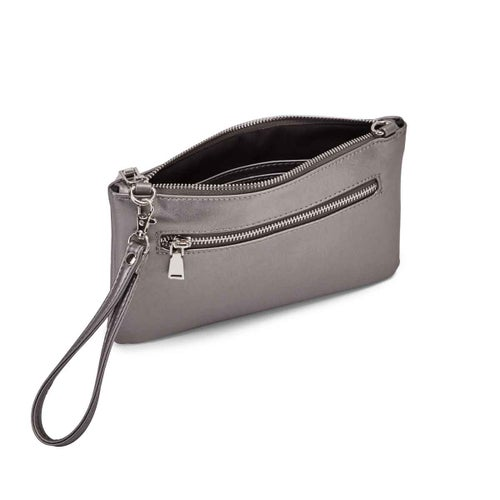 Lds Rock and Chain pewter cross body bag