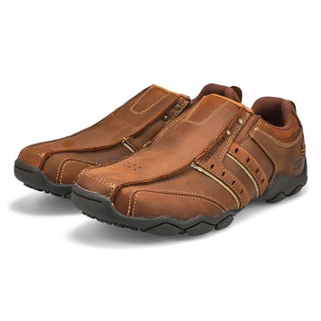 Men's Diameter Slip Ons Wide - Brown