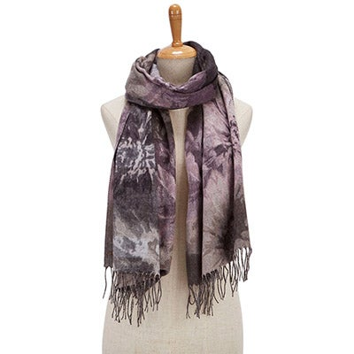 Fraas Women's FLORAL BOUQUET taupe scarves