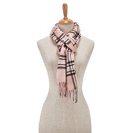Lds Fraas Plaid light rose scarf