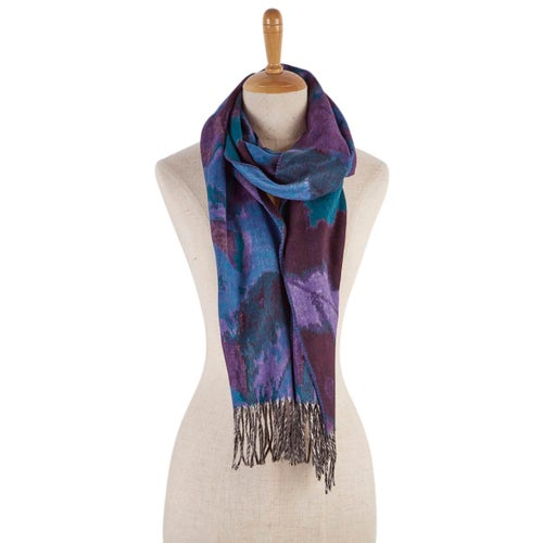 Lds Mirage plum scarf
