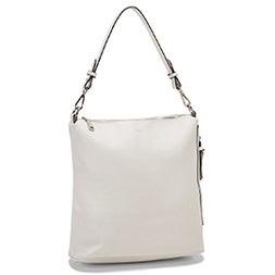 Lds white convertible hobo bag