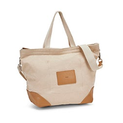 Lds cream biscuit small 2 strap tote bag