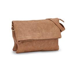 Lds whiskey foldover crossbody bag