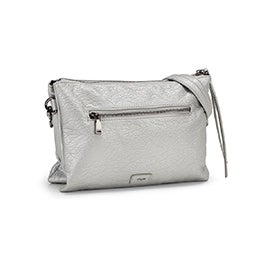 Co-Lab Women's 6286 silver crossbody clutch bag