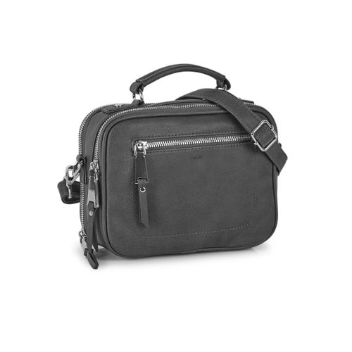Lds charcoal crossbody camera bag