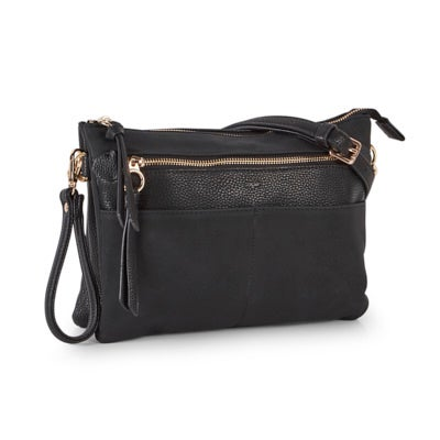 Co-Lab Women's 6317 black crossbody clutch