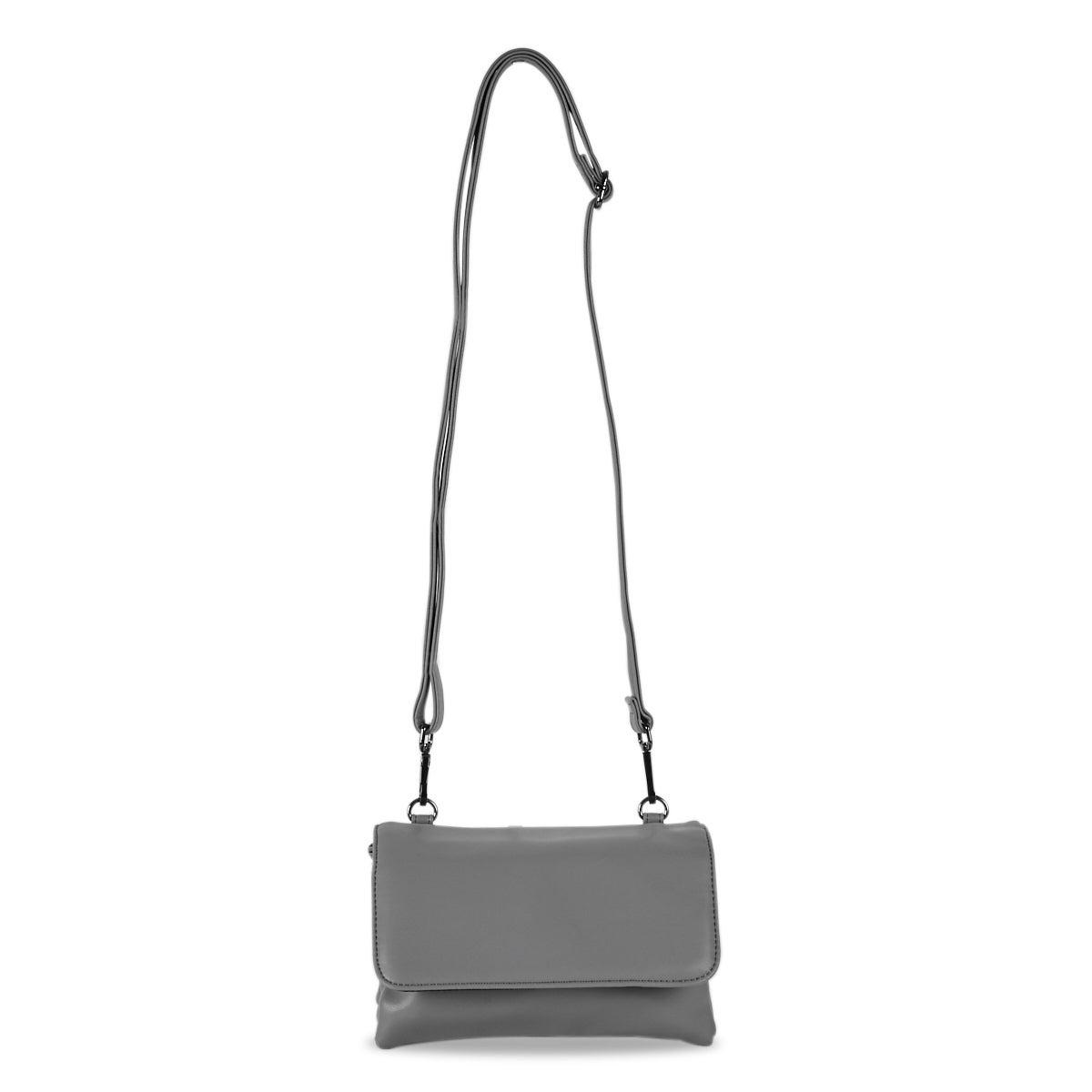 Women's 6335 smooth triple grey crossbody bag