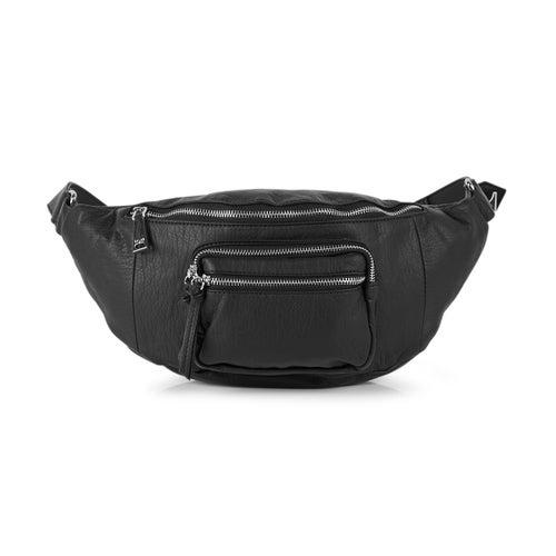 Lds Washed Vintage black fanny pack