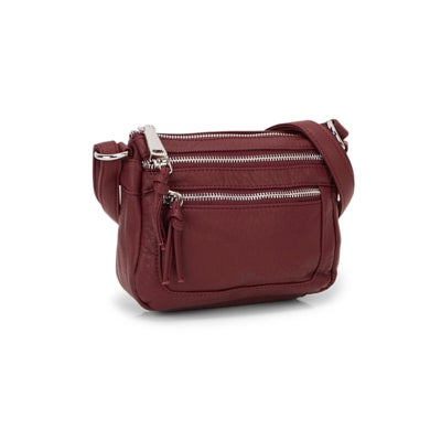 Co-Lab Women's LOFT washed vintage berry crossbody bag