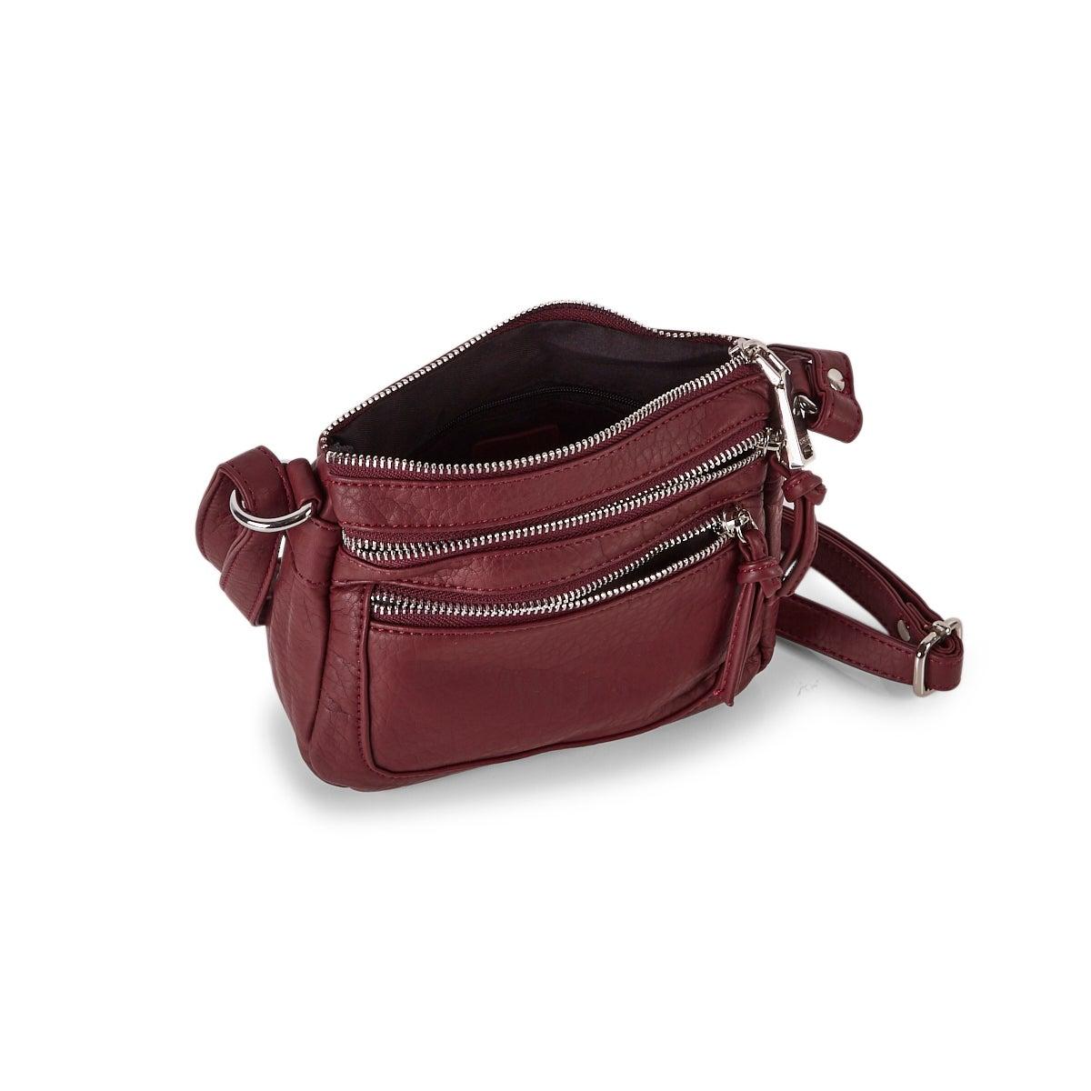 Women's LOFT washed vintage berry crossbody bag
